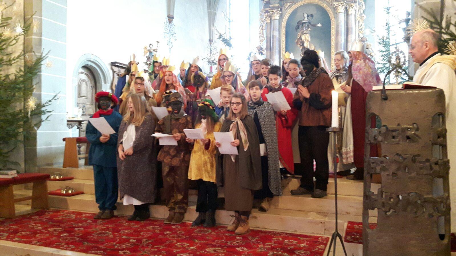 Weihnachtszeit 2015-2016 : Katholische Kirche Wangen im Allgäu